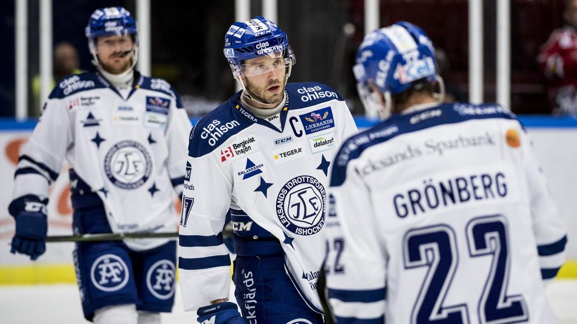161004 Leksands Jesper Ollas deppar efter ishockeymatchen i SHL mellan Malmš Redhawks och Leksand den 4 oktober 2016 i Malmš. Foto: Petter Arvidson / BILDBYRN / kod PA / 91499